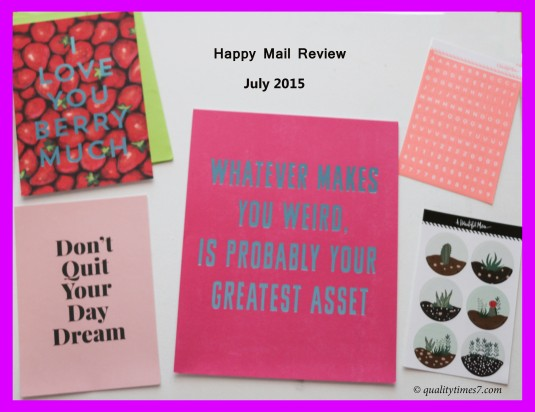 July 2015 Happy Mail title