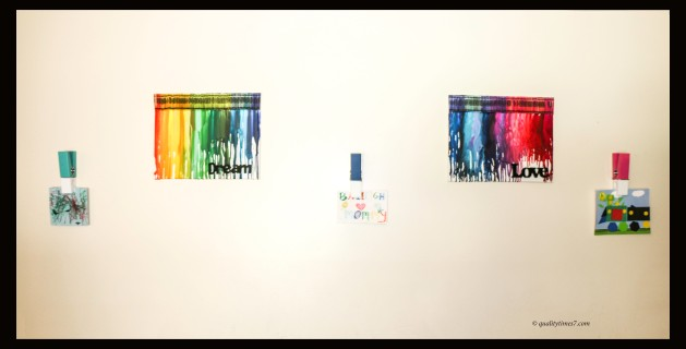 wall crayon art hung up