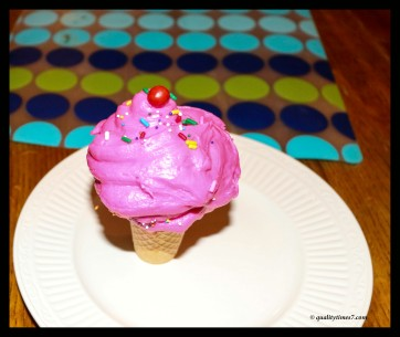 finished first cupcake